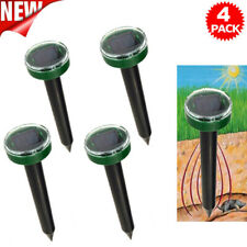 4x Ultrasonic Practical Solar Power Snake Mouse Pest Rodent Repeller Garden Yard