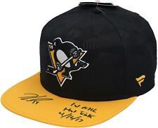 Jake Guentzel Pittsburgh Penguins Signed Fanatics Snapback Cap & Insc - LE 17