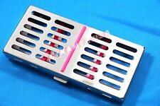 GERMAN DENTAL AUTOCLAVE STERILIZATION CASSETTE RACK BOX TRAY FOR 7 INSTRUMENT