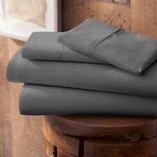 Ienjoy Home Performance 4Pcs Bed Sheet Set - Gray, King, (IEH-4PC-KING-GR)