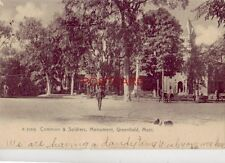 pre-1907 COMMON & SOLDIERS MONUMENT, GREENFIELD, MASS. 1909