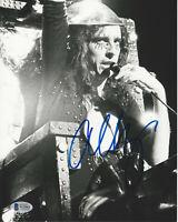 SINGER ALICE COOPER SIGNED 8X10 PHOTO SHOCK ROCK ICON 11 PROOF BECKETT COA BAS