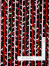Tree Linear Red Wh Branches Cotton Fabric Kanvas Studio 4953 Feeling Foxy - Yard