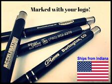 100pcs Engraved Premium Black Ink Pen with Stylus