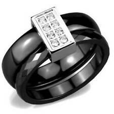 Stainless Steel Ceramic Costume Rings
