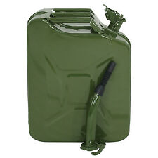 5 Gal Jerry Can Fuel Steel Tank Army Green Military Style 20L Backup Tan