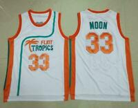 Semi Pro Flint Tropics Movie #33 Jackie MOON Basketball Jersey Stitched S-3XL