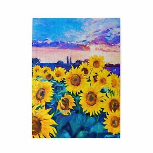 Wood Jigsaw Puzzle Educational Game Adults Kids Gift Sunflowers Art Painting DIY