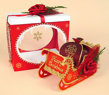 A4 Card Making Templates for Santa's Magical Sleigh + Display Box, Card Carousel