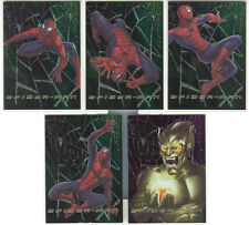 "Spider-Man The Movie - ""Web Tech Foil Cards"" Set of 5 Chase Cards #F1-5"