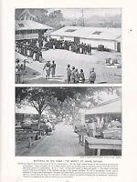 1897 VICTORIAN PRINT ~ BARTERNIG ON THE NIGER MARKET ~ St JOHN'S ANTIGUA ~TEXT