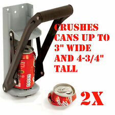 (2) 12oz Can Crusher Aluminum Can Crusher Bottle Opener Wall Mount 2n1 Ez Crush