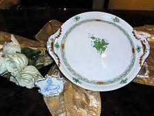 edle Kuchenplatte mit Griffen Platte Tablett Herend Apponyi Vert Grün