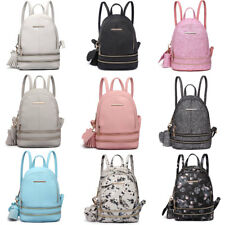 6d79f2470ef Girls PU Leather Small Mini Cute Backpack School Travel Shoulder Bag