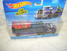 Hot Wheels Tractor Trailer and Race Car Rumble Road Treasure Hunt Edition 2015