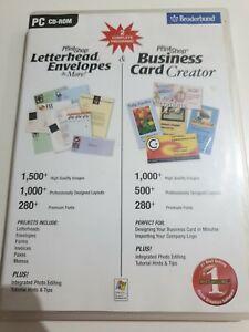 PrintShop Letterhead, Envelope + Business Cards! PC Print shop software CD-Rom