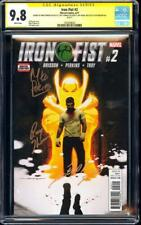 Iron Fist #2 CGC 9.8 SS Signed 4x by Mike Perkins, Roy Thomas, Dekal, & Brisson