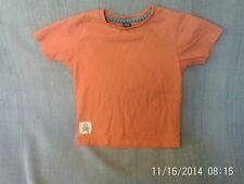 Boys 3-4 Years - Dark Orange T-Shirt with Pirate Motif - TU
