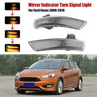 Dynamische Geräucherte LED Blinker Lauflicht Spiegelanzeige für Ford Focus 08-16