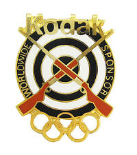 1996 Atlanta Olympic Games Kodak Worldwide Sponsor Golden Target Shooting Pin