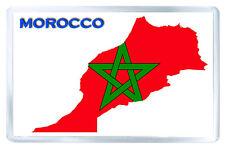 MOROCCO FLAG MAP FRIDGE MAGNET SOUVENIR IMAN NEVERA
