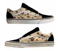 Women's Vans Old Skool Ditsy Floral Size 10 New Classic White Black NIB