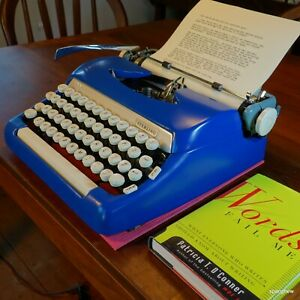 1965 Smith-Corona Sterling portable typewriter:A classic, working beautifully.