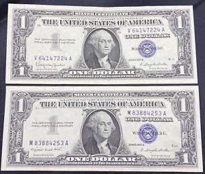 (2) CU 1957 Silver Certificates