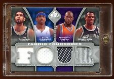 2009 UD QUAD GAME PATCH/JERSEY TIM DUNCAN-IVERSON-SHAQUILLE O'NEAL-D ROBINSON