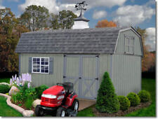 Best Barns Meadowbrook 12x10 Wood Storage Shed Kit - All Pre-Cut