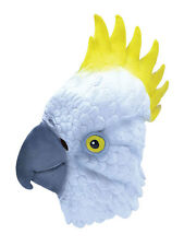 Cockateil Cockatoo Parrot Budgie Rubber Overhead Mask Adult Fancy Dress New