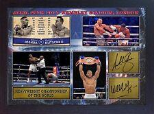 Anthony Joshua Wladimir Klitschko Boxing WBA signed photo autograph Framed
