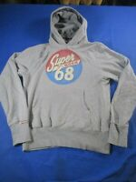 vtg 00s superdry large hoody hooded sweater sweatshirt Jumper Ref008
