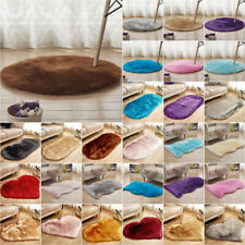 Fluffy Faux Fur Rug Floor Carpet Shaggy Area Rugs Bedroom Mat Circle / Irregular