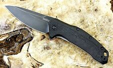 1776BW Kershaw Link Blackwashed pocket knife assisted opening New Blem USA Made