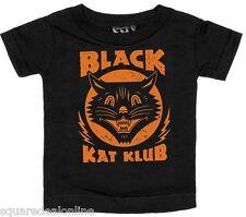 86341 Orange & Black Kat Klub Tee Shirt Sourpuss Punk Cat Club Kids Baby (12M)