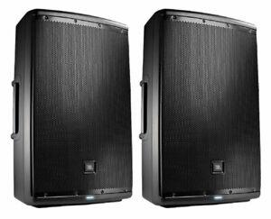 2x JBL EON615 Active Loudspeaker Powered Monitor Speaker Pair (B)