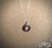 """2012 EPCOT 30 Anniversary Universe of Energy Vintage Logo Charm 18"""" SS Necklace"""