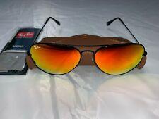 Ray-Ban Aviator Sunglasses RB3025 62mm 002/4W Black Frame Orange Gradient Flash