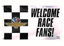 Indianapolis Motor Speedway Welcome Race Fans! Collector 3' x 5' Flag Banner 500