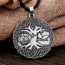 Life Pendant Necklace Gift Viking Norse Antique Silver Plt Warriors Tree of