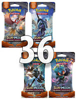 36 Booster Blister Pack Burning Shadows Pokemon Cards Sun & Moon Sealed equ. Box