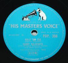 "10"" 78 - Harry Belafonte - Scarlet Ribbons/Hold em Joe - HMV POP360 - 1957"