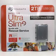 Seagate Backup Plus Ultra Slim 2TB USB 3.0 Premium Metal Edition Rescue Service