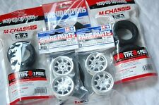 TAMIYA 1:10 RC Car F.m.Tire(54216) + Wheel(50676) + Inner(53255) set (M-chassis)