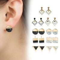 Women Statement Boho Geometric Big Pendant Ear Stud Dangle Drop Earrings