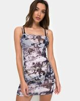 MOTEL ROCKS Saleh Bodycon Dress in Cherub Mesh Small S (mr65)