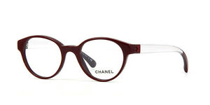 Chanel Eyeglasses 3273 1448 Burgandy/Clear Rxable Frames Authentic 49mm w/Case