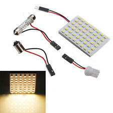 48 SMD Panel Led Car T10 BA9S Festoon Dome Interior Lamps Bulb Light Warm White