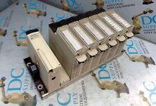 TELEMECANIQUE SCHNEIDER AUTOMATION TSXRKY8EX 8 SLOT RACK W PSU & 6 OTHER MODULES